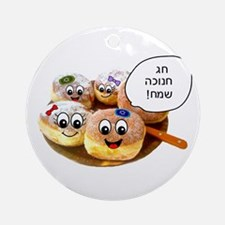 Chanukah Sameach Donuts Ornament (Round)
