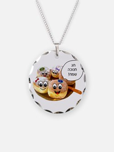 Chanukah Sameach Donuts Necklace