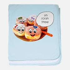 Chanukah Sameach Donuts baby blanket