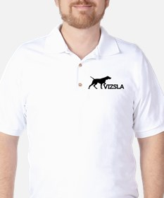 Men's Vizsla Golf Shirt (silhouette)