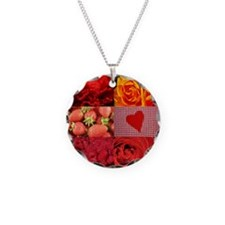 Stylish Red Photo Collage Necklace