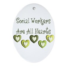 Social Worker Ornament (Oval)