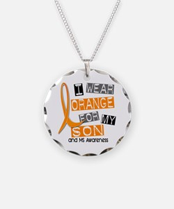 I Wear Orange 37 MS Necklace