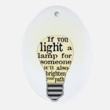 Inspiring saying - Help Thy N Ornament (Oval)