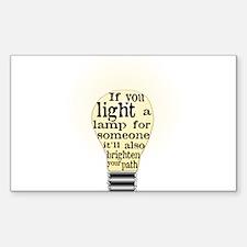 Inspiring saying - Help Thy N Decal
