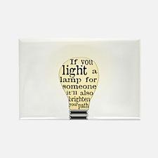 Inspiring saying - Help Thy N Rectangle Magnet