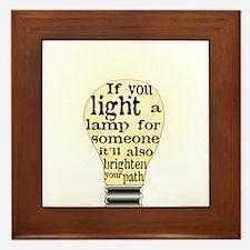 Inspiring saying - Help Thy N Framed Tile