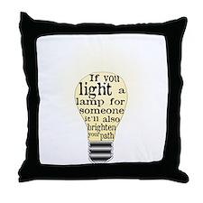 Inspiring saying - Help Thy N Throw Pillow
