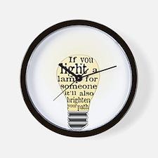 Inspiring saying - Help Thy N Wall Clock