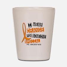 I Wear Orange 37 MS Shot Glass