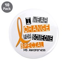 "I Wear Orange 37 MS 3.5"" Button (10 pack)"