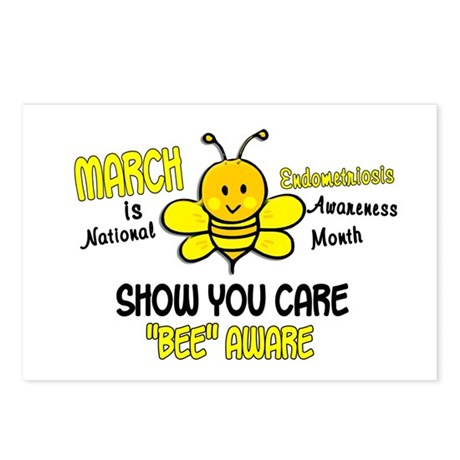 Endo Awareness Month Bee 1 Postcards (Package of 8