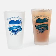 I heart Nicaraguan Designs Drinking Glass