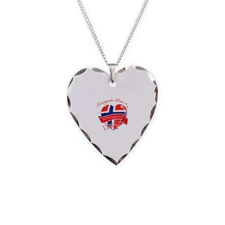 I heart Norwegian Designs Necklace Heart Charm