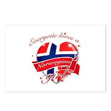 I heart Norwegian Designs Postcards (Package of 8)