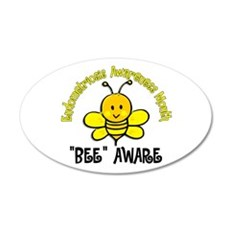 Endo Awareness Month Bee 2 22x14 Oval Wall Peel