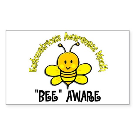 Endo Awareness Month Bee 2 Sticker (Rectangle)