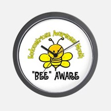 Endo Awareness Month Bee 2 Wall Clock