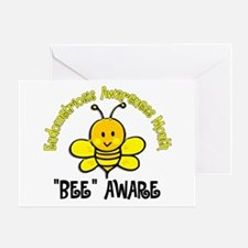 Endo Awareness Month Bee 2 Greeting Card