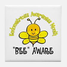 Endo Awareness Month Bee 2 Tile Coaster