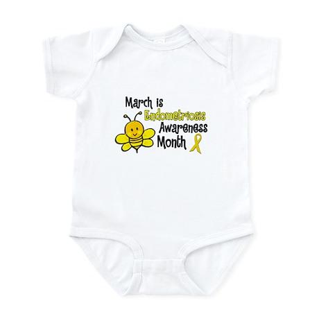 Endo Awareness Month Bee 3 Infant Bodysuit