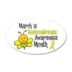 Endo Awareness Month Bee 3 22x14 Oval Wall Peel