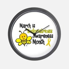 Endo Awareness Month Bee 3 Wall Clock