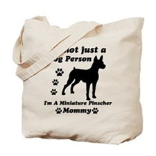 Miniature Pinscher Mommy Tote Bag
