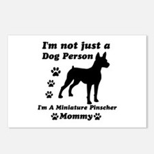 Miniature Pinscher Mommy Postcards (Package of 8)