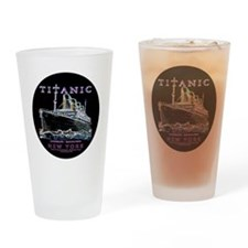 Titanic Neon (black) Drinking Glass