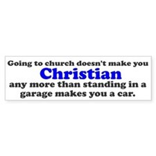 Church Christian Garage Car Bumper Sticker