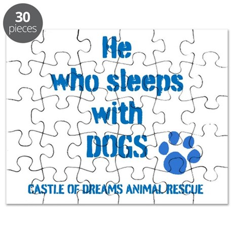 He sleeps with DOGS Puzzle