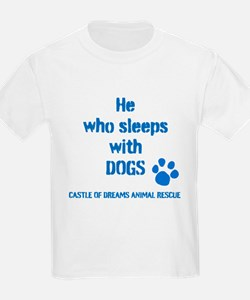 He sleeps with DOGS T-Shirt