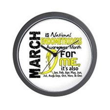 Endo Awareness Month For Me Wall Clock