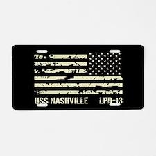 USS Nashville Aluminum License Plate