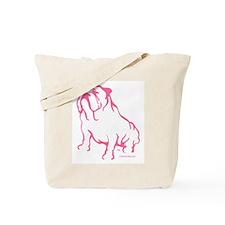 Bulldoggers Get More Love Logo Pink/Tote Bag