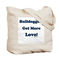 Bulldoggers Get More Love Blue/Tote Bag