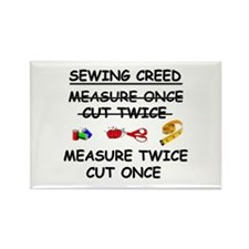 SEWING CREED Rectangle Magnet
