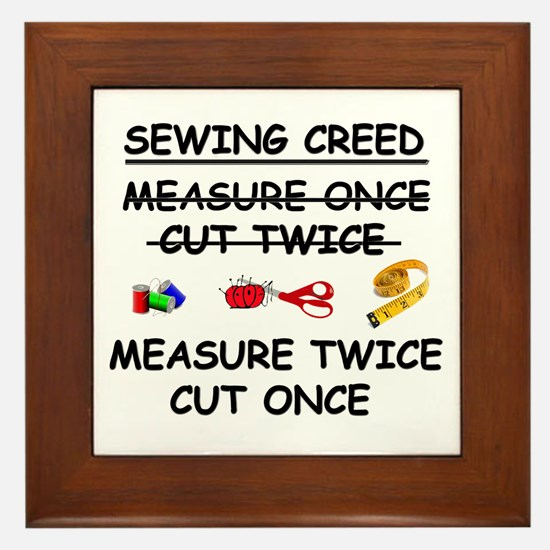 SEWING CREED Framed Tile
