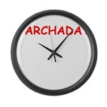 yiddish Large Wall Clock