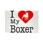 I Love My Boxer Rectangle Magnet