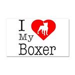 I Love My Boxer Car Magnet 20 x 12