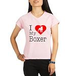 I Love My Boxer Performance Dry T-Shirt