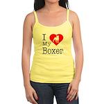 I Love My Boxer Jr. Spaghetti Tank