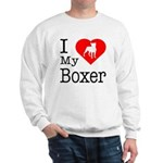 I Love My Boxer Sweatshirt