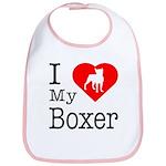 I Love My Boxer Bib