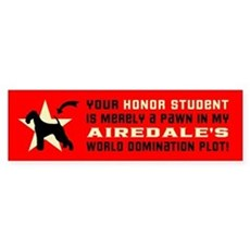AIREDALE World Domination Bumper Sticker