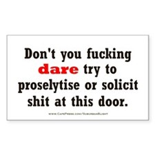 """""""No Soliciting"""" Decal"""