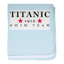 Titanic 1912 Swim Team baby blanket
