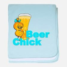 Beer Chick #2 baby blanket